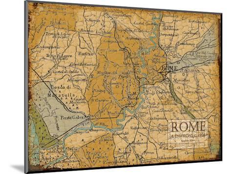 Environs Rome Sepia-Carole Stevens-Mounted Art Print