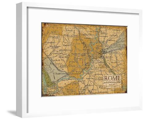 Environs Rome Sepia-Carole Stevens-Framed Art Print