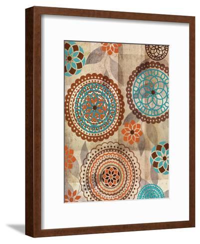 Orange Oragomie 2-Kristin Emery-Framed Art Print