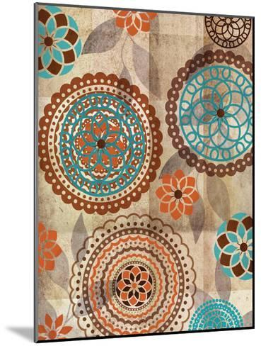 Orange Oragomie 2-Kristin Emery-Mounted Art Print