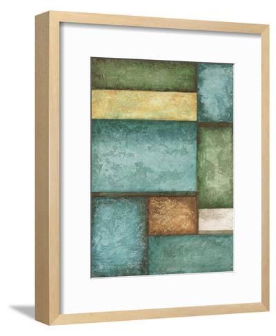Rectangle Blue Velvet I-Kristin Emery-Framed Art Print