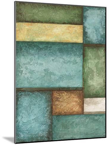 Rectangle Blue Velvet I-Kristin Emery-Mounted Art Print