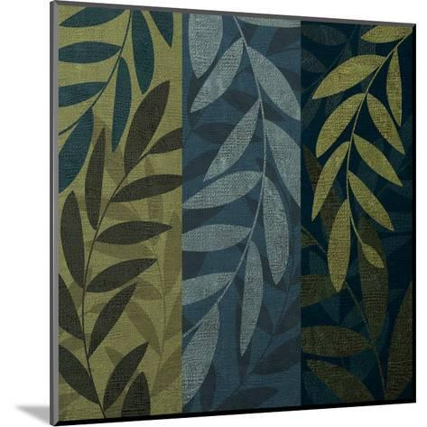 Green Blue 3 panel Mate-Kristin Emery-Mounted Art Print