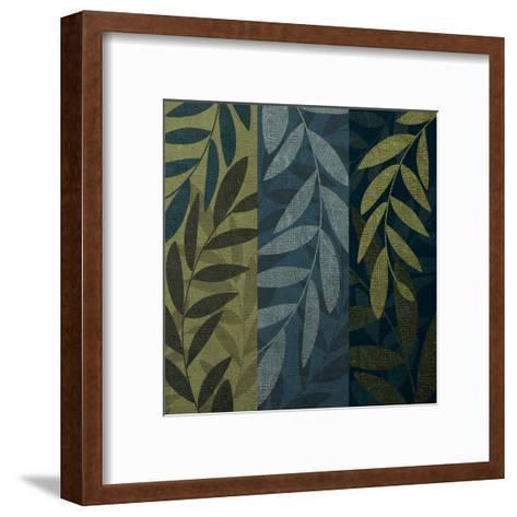 Green Blue 3 panel Mate-Kristin Emery-Framed Art Print