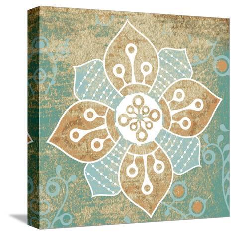 Retro Flower 1-Kristin Emery-Stretched Canvas Print