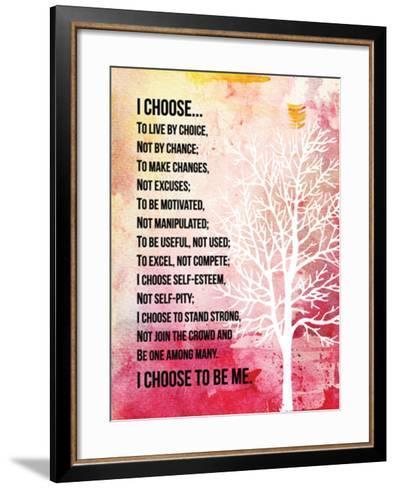 I Choose--Framed Art Print