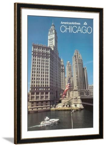 Chicago, Illinois - American Airlines--Framed Art Print