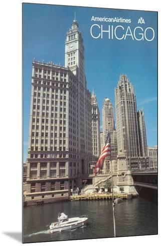 Chicago, Illinois - American Airlines--Mounted Giclee Print
