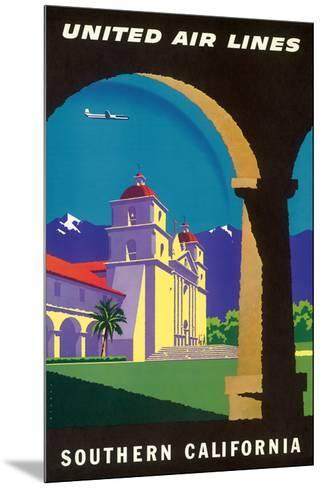 Southern California - Spanish Mission - United Air Lines-Joseph Binder-Mounted Giclee Print