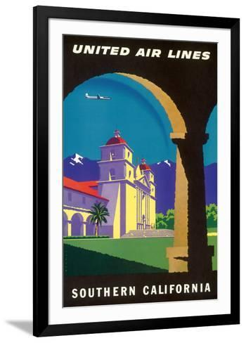 Southern California - Spanish Mission - United Air Lines-Joseph Binder-Framed Art Print