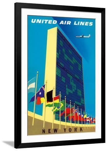 United Nations Building, New York - United Air Lines-Joseph Binder-Framed Art Print