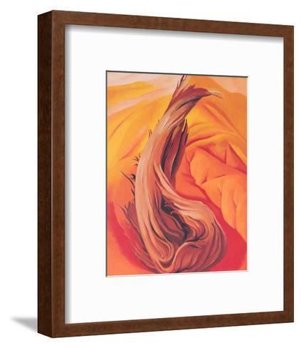 Stump on Red Hills-Georgia O'Keeffe-Framed Art Print