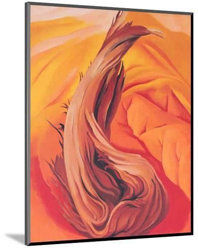 Stump on Red Hills-Georgia O'Keeffe-Mounted Art Print