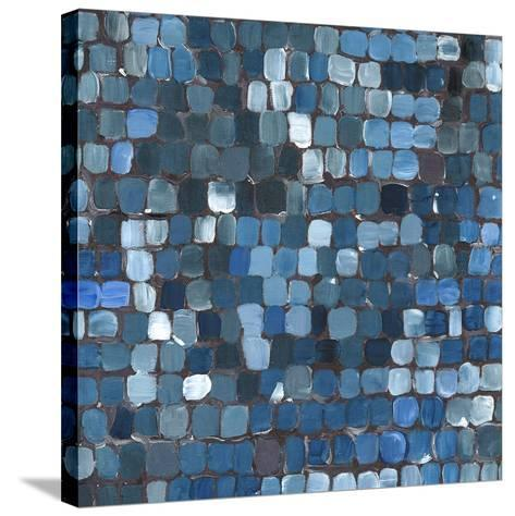Cobalt Cobbles-Stacey Wolf-Stretched Canvas Print