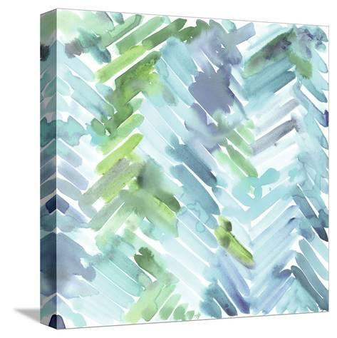 Teal Mountain-Stacey Wolf-Stretched Canvas Print