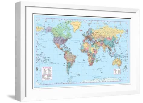 World Map 2--Framed Art Print