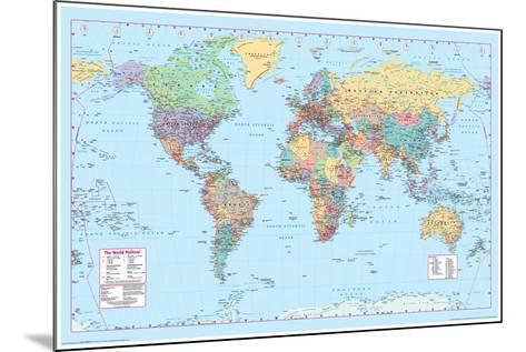 World Map 2--Mounted Poster