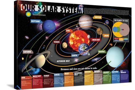 Smithsonian- Our Solar System--Stretched Canvas Print