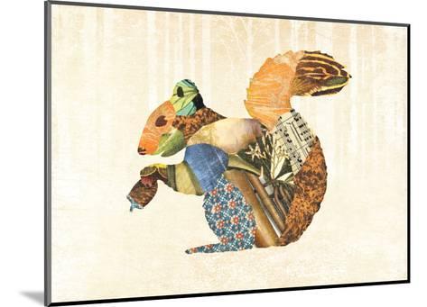 Woodland Creature: Squirrel Poster-Satchel & Sage-Mounted Art Print