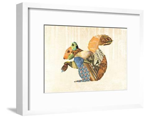 Woodland Creature: Squirrel Poster-Satchel & Sage-Framed Art Print