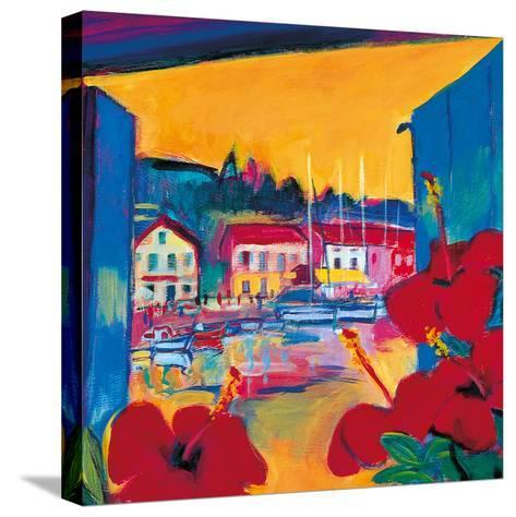 Harbour View-Gerry Baptist-Stretched Canvas Print