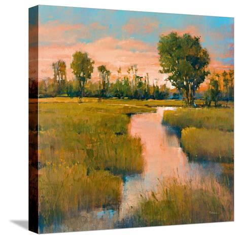 Heron Lake II-Patrick-Stretched Canvas Print