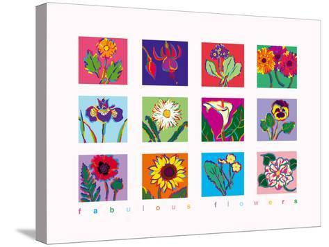 Fabulous Flowers-Gerry Baptist-Stretched Canvas Print