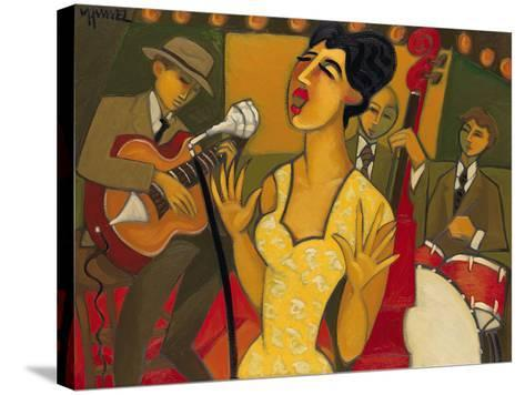 The Recording Session-Marsha Hammel-Stretched Canvas Print