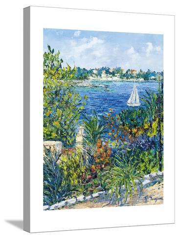 White Boat-Tania Forgione-Stretched Canvas Print