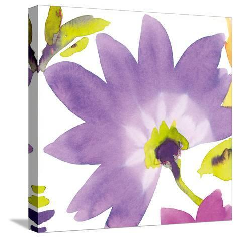 Violet Flower II-Sandra Jacobs-Stretched Canvas Print