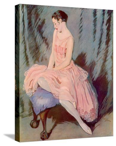 The Pink Dress-Lewis Baumer-Stretched Canvas Print