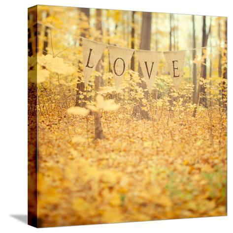 Autumn Love-Irene Suchocki-Stretched Canvas Print