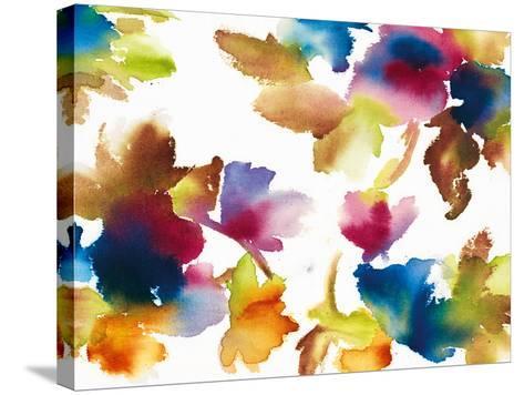 Floral Mystic-Tanuki-Stretched Canvas Print