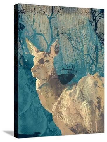 Deerhood IV-Ken Hurd-Stretched Canvas Print