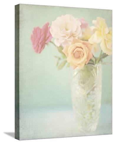 Pastel Roses-Shana Rae-Stretched Canvas Print