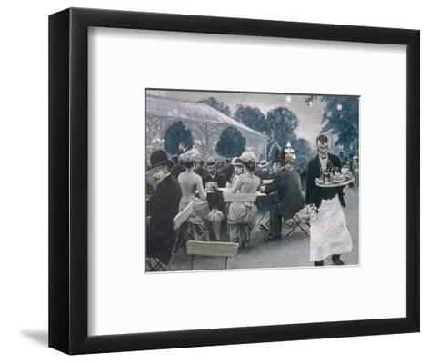 An Evening in the Tivoli Gardens in Copenhagen-Paul Fischer-Framed Art Print