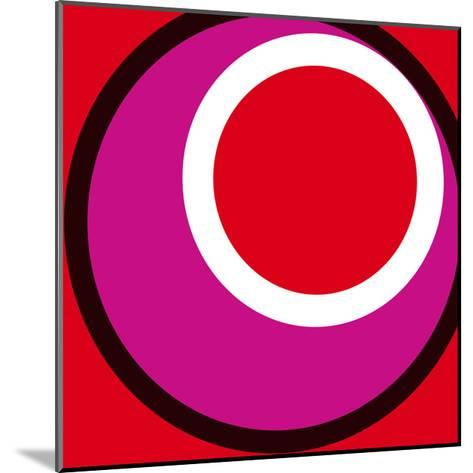 Circles and Colors (Red), 2013-Carl Abbott-Mounted Serigraph