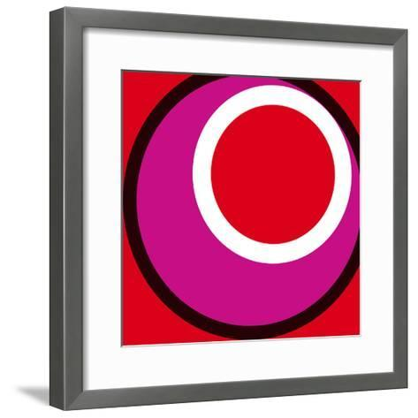 Circles and Colors (Red), 2013-Carl Abbott-Framed Art Print