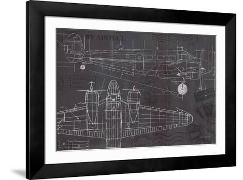 Plane blueprint i art print by marco fabiano the new art plane blueprint i marco fabiano framed art print malvernweather Images