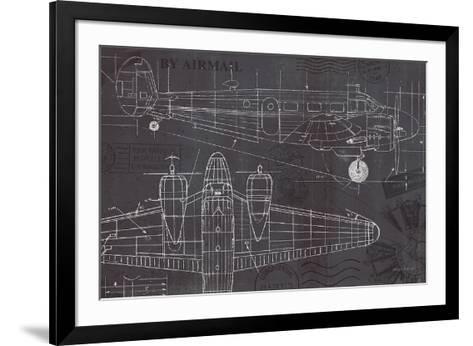 Plane Blueprint I-Marco Fabiano-Framed Art Print