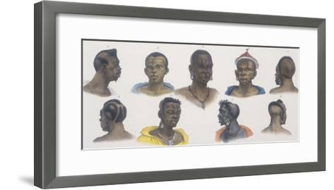 Black People of Different Nations-Jean Baptiste Debret-Framed Art Print