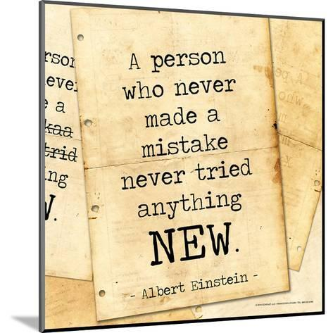 Never Made a Mistake - Albert Einstein Classic Quote-Jeanne Stevenson-Mounted Art Print