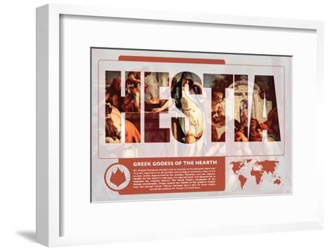 Hestia Mythology Poster-Christopher Rice-Framed Art Print