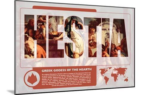Hestia Mythology Poster-Christopher Rice-Mounted Art Print