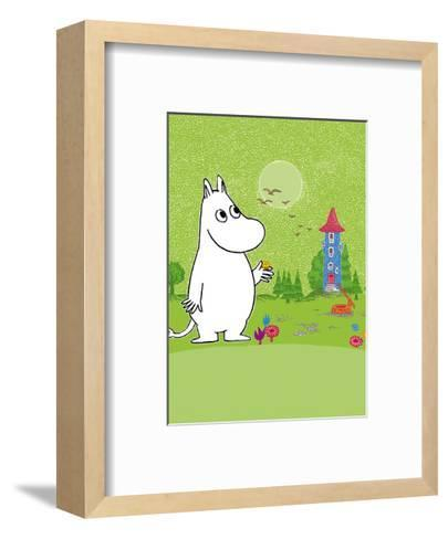 Moomintroll in Moomin Valley-Tove Jansson-Framed Art Print