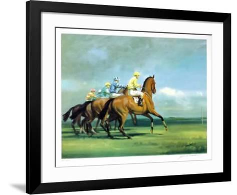Going to the Start-Frank Wootton-Framed Art Print