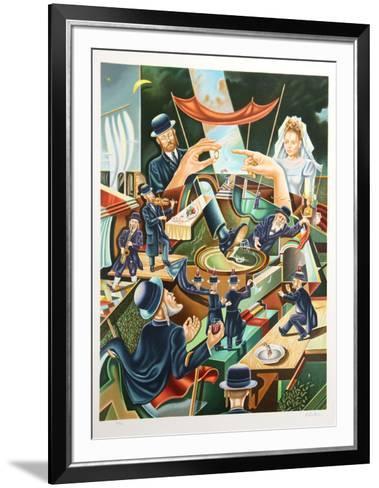 Jewish Wedding-Israel Rubinstein-Framed Art Print