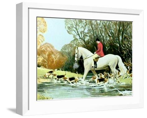 Huntsman Crossing Stream-Frank Wootton-Framed Art Print