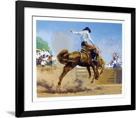 Bucking Bronco-Frank Wootton-Framed Art Print