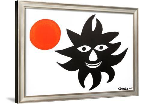 Red Sun-Alexander Calder-Framed Art Print